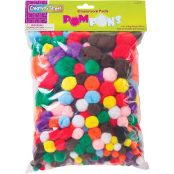 Creativity Street Pom Pons Class Pack - Classroom - Recommended For 3 Year - 300 / Pack - Assorted