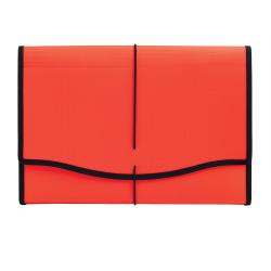 "Office Depot® Brand Polypropylene Expanding File, 13 Pocket, Expansion 3-1/2"", 8 1/2"" x 14"", Legal, Red, Pack of 1"