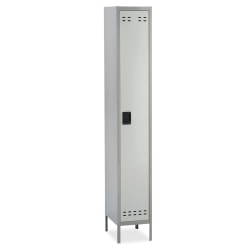 "Safco® Single-Tier Two-Tone Locker With Legs, 78""H x 18""W x 12""D, Gray"