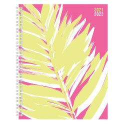"Office Depot® Brand Fashion Weekly/Monthly Academic Planner, 8-1/2"" x 11"", Tropical Techtopia, July 2021 To June 2022, DX200580-008"