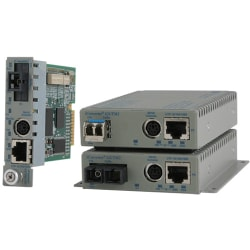 Omnitron Systems 8922N-0-A Media Converter - 1 x RJ-45 Network, 1 x SC Duplex Network - 10/100/1000Base-T, 1000Base-X - External