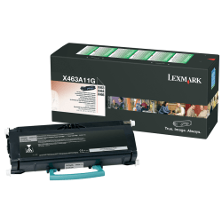 Lexmark™ X463A11G Return Program Black Toner Cartridge