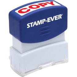 "Stamp-Ever Pre-inked Red Copy Stamp - Message Stamp - ""COPY"" - 0.56"" Impression Width x 1.69"" Impression Length - 50000 Impression(s) - Red - 1 Each"