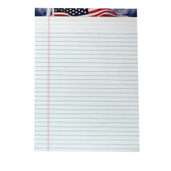 "TOPS™ American Pride™ Writing Tablet, 8 1/2"" x 11 3/4"", 16 Lb, Legal Rule, White, 50 Sheets Per Pad, Pack Of 12 Pads"