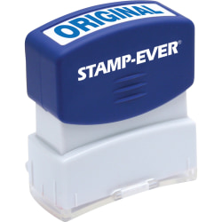 U.S. Stamp & Sign Pre-inked Message Stamp, ORIGINAL, Blue