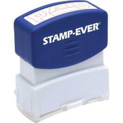 "Stamp-Ever Pre-inked Red Paid Stamp - Message Stamp - ""PAID"" - 0.56"" Impression Width x 1.69"" Impression Length - 50000 Impression(s) - Red - 1 Each"
