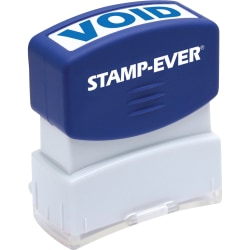 "Stamp-Ever Pre-inked One-Clear Void Stamp - Message Stamp - ""VOID"" - 0.56"" Impression Width x 1.69"" Impression Length - 50000 Impression(s) - Blue - 1 Each"