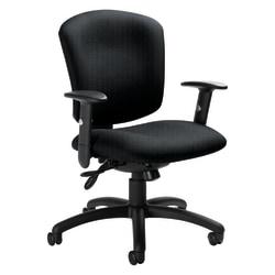 "Global® Supra X™ Mid-Back Multi-Tilter Chair, 38 1/2""H x 25 1/2""W x 23""D, Graphite/Black"