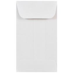 "JAM Paper® Open-End Coin Envelopes, #3, 2 1/2"" x 4 1/4"", White, Pack Of 25"