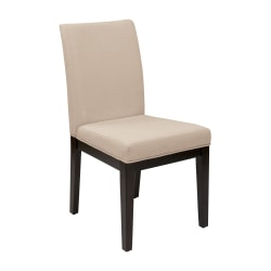 Ave Six Dakota Parsons Chair, Linen/Dark Brown