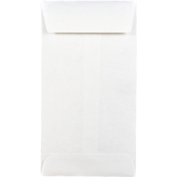 "JAM Paper® Open-End Coin Envelopes, #5, 2 7/8"" x 5 1/4"", White, Pack Of 25"