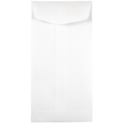"JAM Paper® Open-End Coin Envelopes, #7, 3 1/2"" x 6 1/2"", White, Pack Of 25"