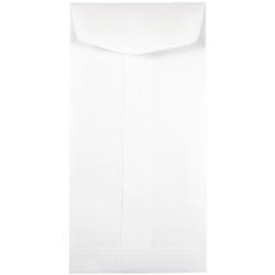 "JAM Paper® Open-End Coin Envelopes, #7, 3 1/2"" x 6 1/2"", White, Pack Of 25"