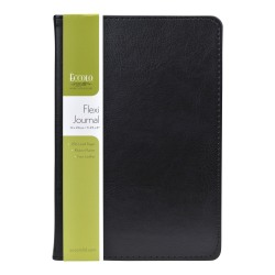 Eccolo Faux-Leather Journal, Black