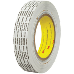 "3M™ 466XL Adhesive Transfer Tape, 3"" Core, 1"" x 1,000 Yd., Clear, Case Of 6"