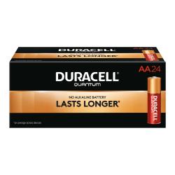 Duracell® Quantum AA Alkaline Batteries, Pack Of 24 Batteries