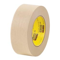 """3M™ 232 Masking Tape, 1/2"""" x 60 Yd., Tan, Case Of 72"""