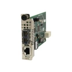 Transition Networks Fast Ethernet Media Converter 100BASE-TX to 100BASE-FX - 1 x Network (RJ-45) - 1 x LC Ports - DuplexLC Port - 100Base-TX, 100Base-FX - Internal