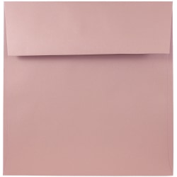 "JAM Paper® Color Square Invitation Envelopes, 8 1/2"" x 8 1/2"", Baby Pink, Pack Of 25"