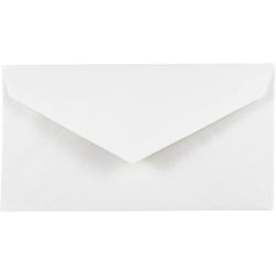 "JAM Paper® Booklet Envelopes, #7 3/4 Monarch, Commercial Flap, 3 7/8"" x 7 1/2"", White, Pack Of 25"