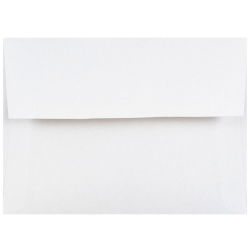 """JAM Paper® Booklet Envelopes With Gummed Closure, 4 Bar A1, 3 5/8"""" x 5 1/8"""", White, Pack Of 25"""