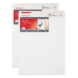 """Office Depot® Brand Bleed Resistant Self-Stick Easel Pads, 25"""" x 30"""", 40 Sheets, 30% Recycled, White, Pack Of 2"""