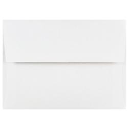 "JAM Paper® Booklet Invitation Envelopes, A6, 4 3/4"" x 6 1/2"", White, Pack Of 25"