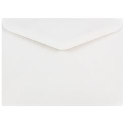 "JAM Paper® Booklet Invitation Envelopes, A7, 5 1/4"" x 7 1/4"", White, Pack Of 25"