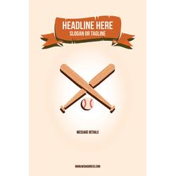 Custom A-Frame Sign, Baseball