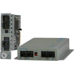 Omnitron Systems Multimode to Single-Mode Managed Fiber Converter - 2 x SC Ports - OC-3 - Wall Mountable, Desktop