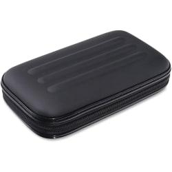 "Advantus Large Soft-Sided Pencil Case - External Dimensions: 2"" Width x 8.8"" Depth x 5.3"" Height - Zipper Closure - Fabric - Black - For Pen/Pencil, Crayon, Scissors - 1 Each"