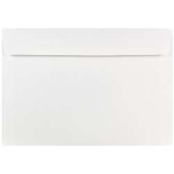 "JAM Paper® Booklet Envelopes With Gummed Closure, #7 1/4, 7"" x 10"", White, Pack Of 25"