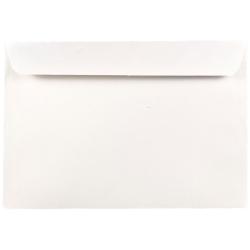 "JAM Paper® Booklet Envelopes With Gummed Closure, #7 1/2, 7 1/2"" x 10 1/2"", White, Pack Of 25"