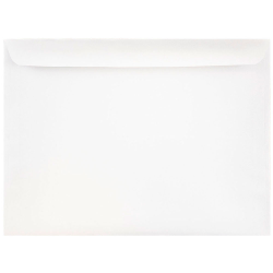 "JAM Paper® Booklet Envelopes With Gummed Closure, 9"" x 12"", White, Pack Of 25"