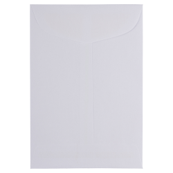 """JAM Paper® Mini Envelopes, Open-End Policy 1 Scarf, 4 5/8"""" x 6 3/4"""", White, Pack Of 25"""