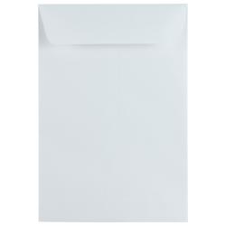 """JAM Paper® Open-End 6 1/2"""" x 9 1/2"""" Catalog Envelopes, Gummed Seal, White, Pack Of 25"""