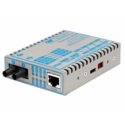 FlexPoint 10/100 Ethernet Fiber Media Converter RJ45 ST Multimode 5km Wide Temp - 1 x 10/100BASE-TX; 1 x 100BASE-FX; US AC Powered; Lifetime Warranty