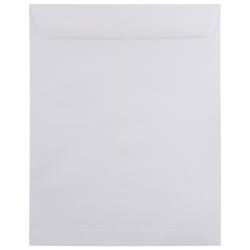 """JAM Paper® Open-End 11 1/2"""" x 14 1/2"""" Catalog Envelopes, Gummed Seal, White, Pack Of 25"""