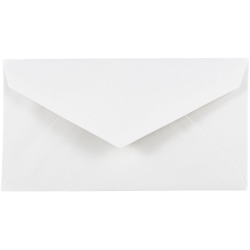 """JAM Paper® Booklet Envelopes, #7 3/4 Monarch, Straight Flap, 3 7/8"""" x 7 1/2"""", White, Pack Of 25"""