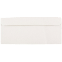 """JAM Paper® Booklet Commercial Flap Envelopes With Gummed Closure, #9, 3 7/8"""" x 8 7/8"""", White, Pack Of 25"""