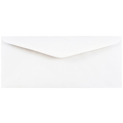 """JAM Paper® Booklet Commercial Flap Envelopes With Gummed Closure, #11, 4 1/2"""" x 10 3/8"""", White, Pack Of 25"""