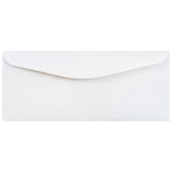 "JAM Paper® Booklet Commercial-Flap Envelopes With Gummed Closure, #12, 4 3/4"" x 11"", Regular White, Pack Of 25"