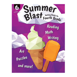 Shell Education Summer Blast Activity Book, Getting Ready For Grade 4