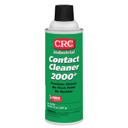 CRC Contact Cleaner 2000® Precision Cleaner, Tapered Cap, 13 Oz, Pack Of 12 Cans