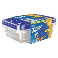 Ziploc® Plastic Food Storage Container Set, Clear, Pack Of 2