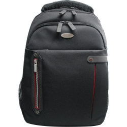 """ECO STYLE Carrying Case (Backpack) for 16.4"""" Notebook - Red, Black - Ballistic Polyester - Checkpoint Friendly - Shoulder Strap - 19.3"""" Height x 14.9"""" Width x 4.9"""" Depth"""