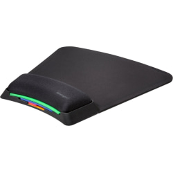 Kensington SmartFit Mouse Pad Stacked with Wrist Support - Black - Gel - Stain Resistant, Odor Resistant