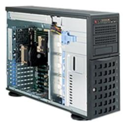 Supermicro SuperServer 7046T-6F Barebone System - 4U Tower - Intel 5520 Chipset - Socket B LGA-1366 - Black - 192 GB DDR3 SDRAM DDR3-1333/PC3-10600 Maximum RAM Support - Serial ATA/300, Serial Attached SCSI (SAS) RAID Supported Controller