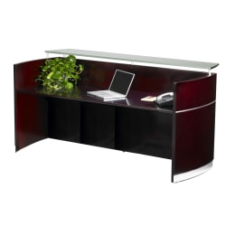 Mayline® Napoli Reception Station, Mahogany