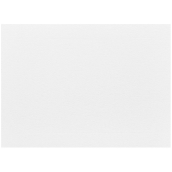 "JAM Paper® Blank Note Cards, Panel Border, 5 1/8"" x 7"", White, Pack Of 100"
